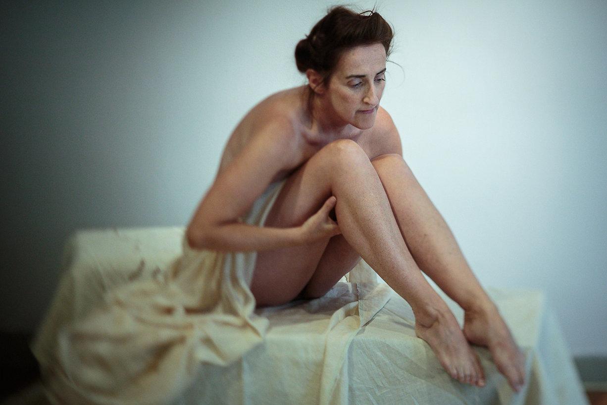 Molly Bloom, James Joyce's Ulysses, Aedín Moloney. Photo by Silvia Saponaro