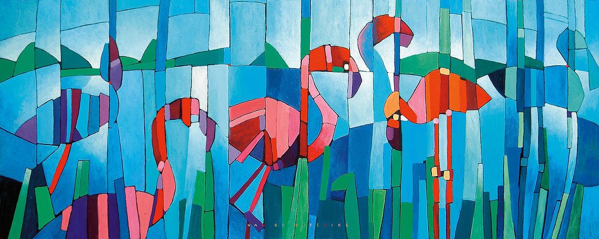2003_Flamingo Panoramique_Acryl_210x83.j