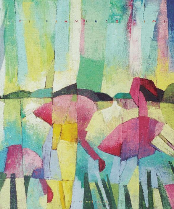 2000_Its Flamingo Time_Olieverf_50x60_WI