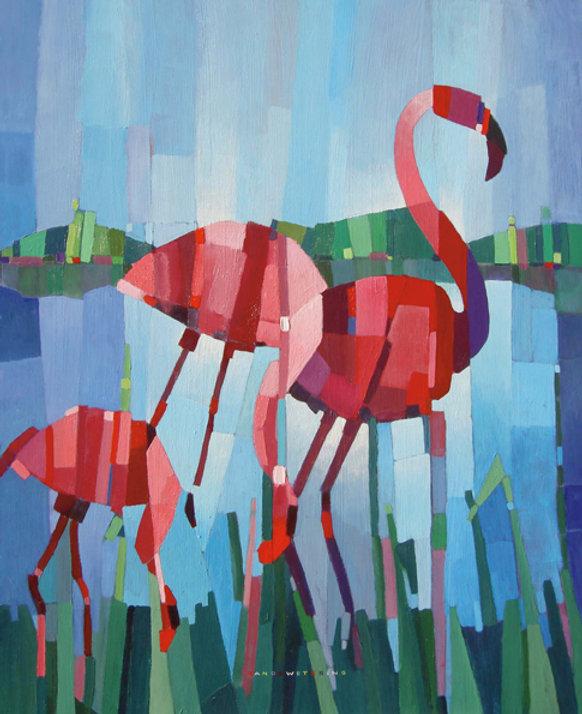 2002_Flamingo Zeelandeae2_Acryl_80x100_W