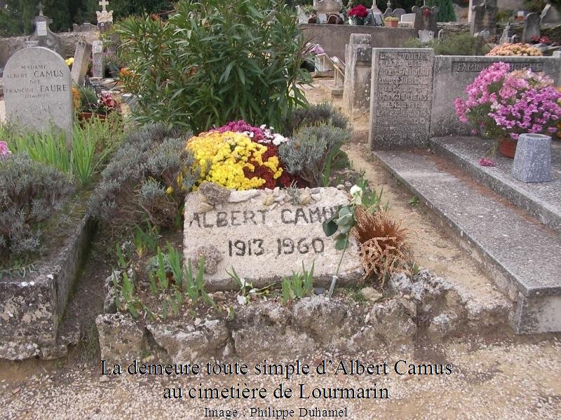 Tombe d'Albert Camus à Lourmarin