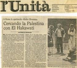 Article dans L'Unità sur Kofor Shamma, Italie