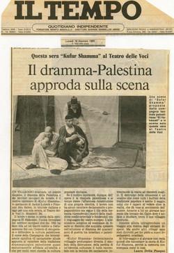 Article dans Il Tempo sur Kofor Shamma, Italie