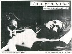 affiche de film l'outrage aux mots 1985.JPG