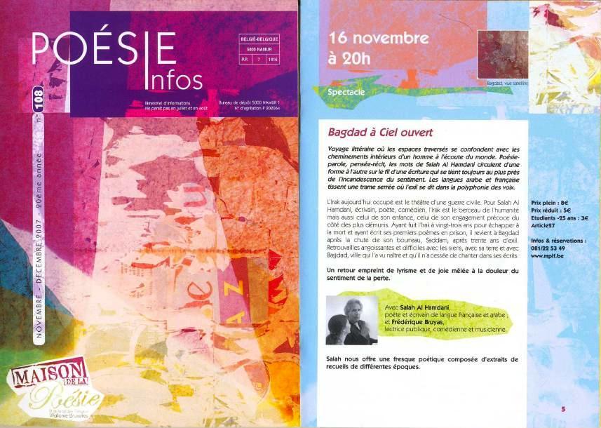 Programme à Namur