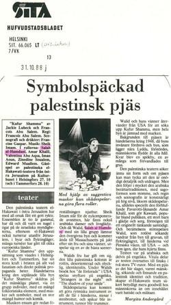 Article sur Kufur Shamma Helsinki