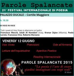 Festival internationale de poésie, 2015