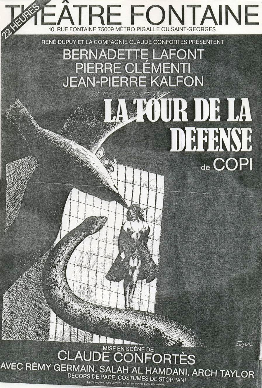 Affiche la tour de la défense