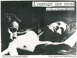 Affiche de film l'outrage aux mots 1985