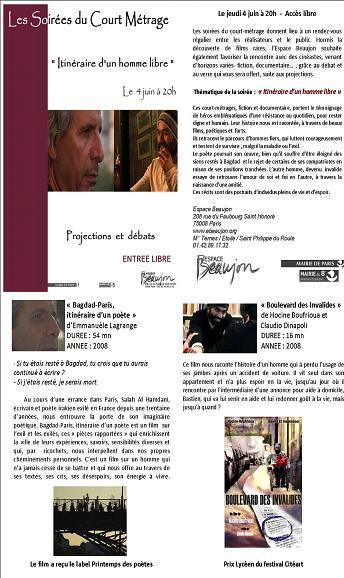 Film Bagdad Paris 4 juin 09.JPG