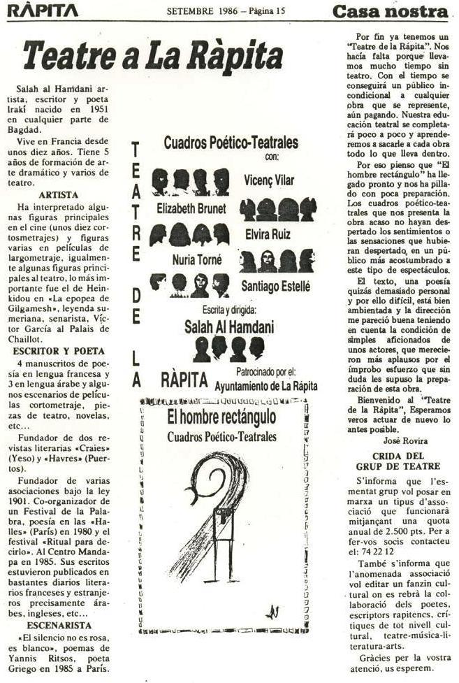 Article Teatre a Al Ràpita