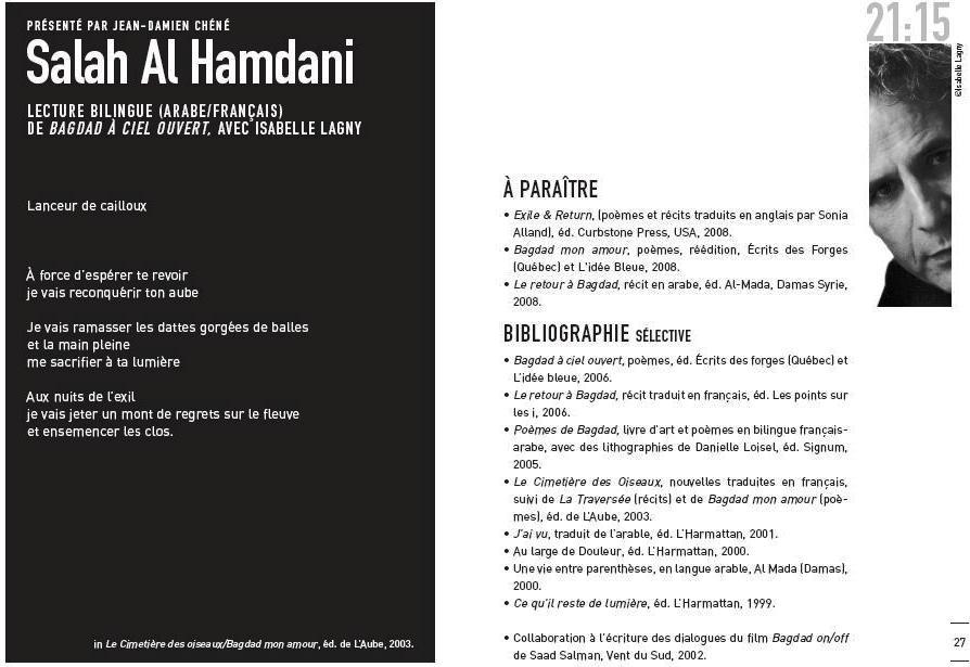 Programme à Nantes
