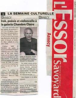 Article sur Catherine et Salah dans L'Essor Annecy 2008.JPG