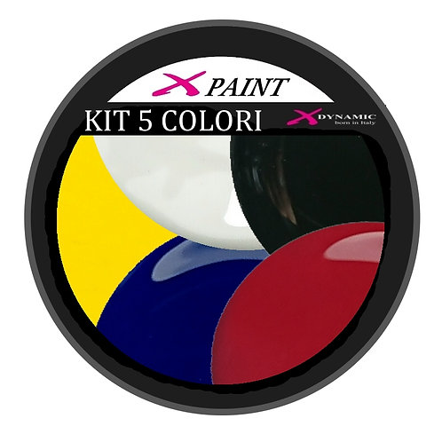 Kit Gel Paint 5 Colori