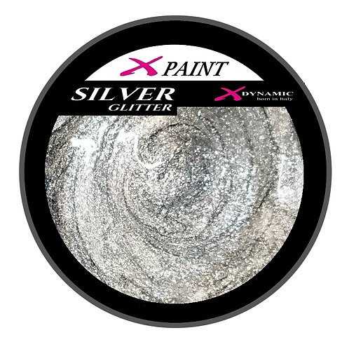 X Paint Silver Glitter