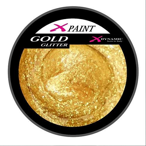 X Paint Gold Glitter