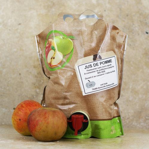 Jus de Pommes - 3 litres Bag In Box (BIB) - 8€