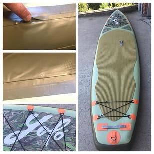 Seam repair on a SUP board! Yolo inflata