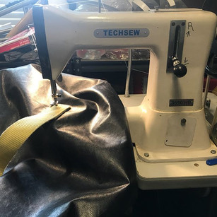 Putting custom handles on a kicking bag,