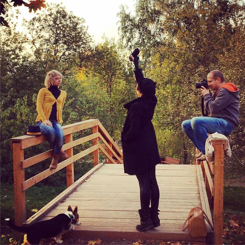 осенняя фотосессия в парке 50-летия в москве
