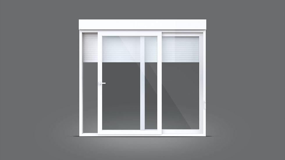 Porta e janela de correr - Com persianas