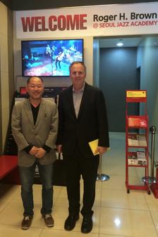 SJA president CHANG HO KIM and  Berklee president ROGER BROWN