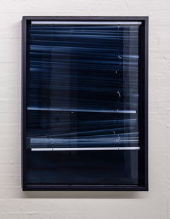 'Morning' Pigmented resin and venetian blinds 140x100x7cm 2019