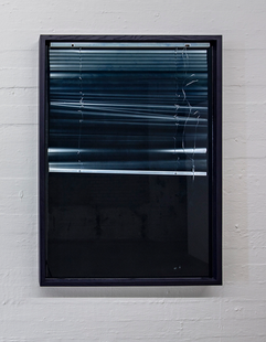 'Dwell' Pigmented resin and venetian blinds 140x100x7cm 2019