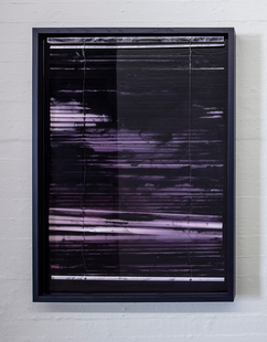 'Into the Night' Pigmented resin and venetian blinds 140x100x7cm 2019
