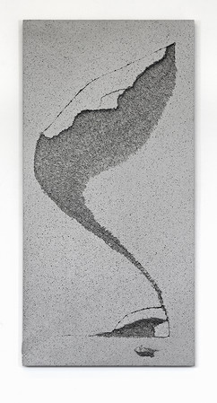 'Sunk' no. 9 Aluminium cast 120x60x3cm 2015