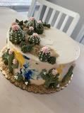 Art style desert cacti