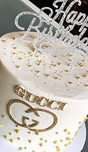 Gucci Birthday with gold dragees