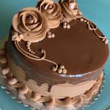 Chocolate buttercream roses and ganache