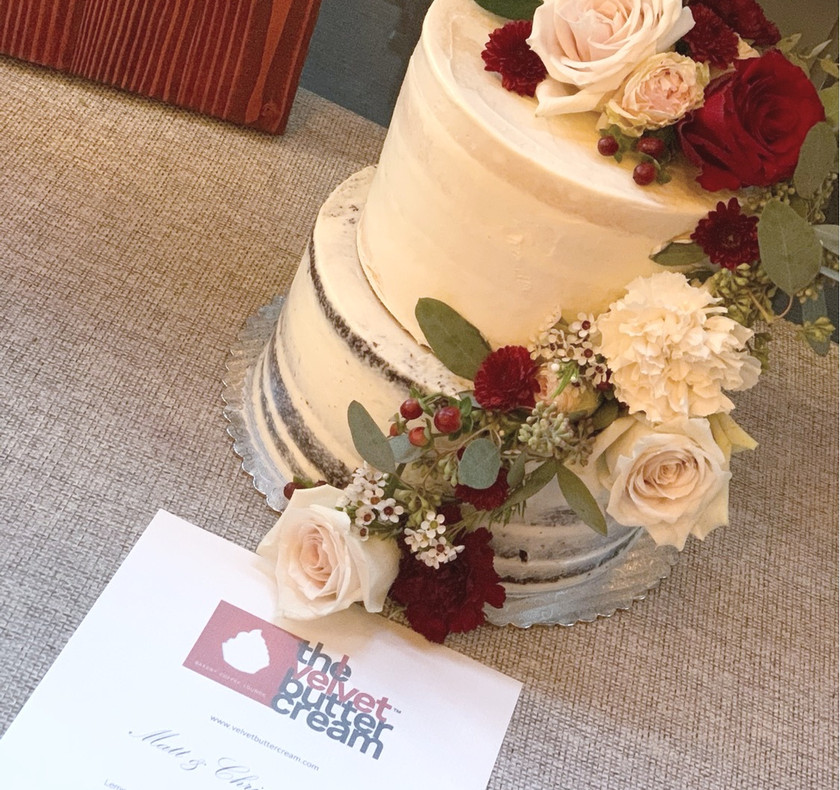 Two tiered naked cake