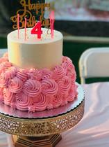 Girl's rosette birthday cake
