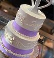 Tiered Lavendar cake