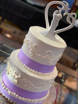 Two tiered lavendar cake