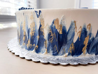 Blue and Gold streaked art