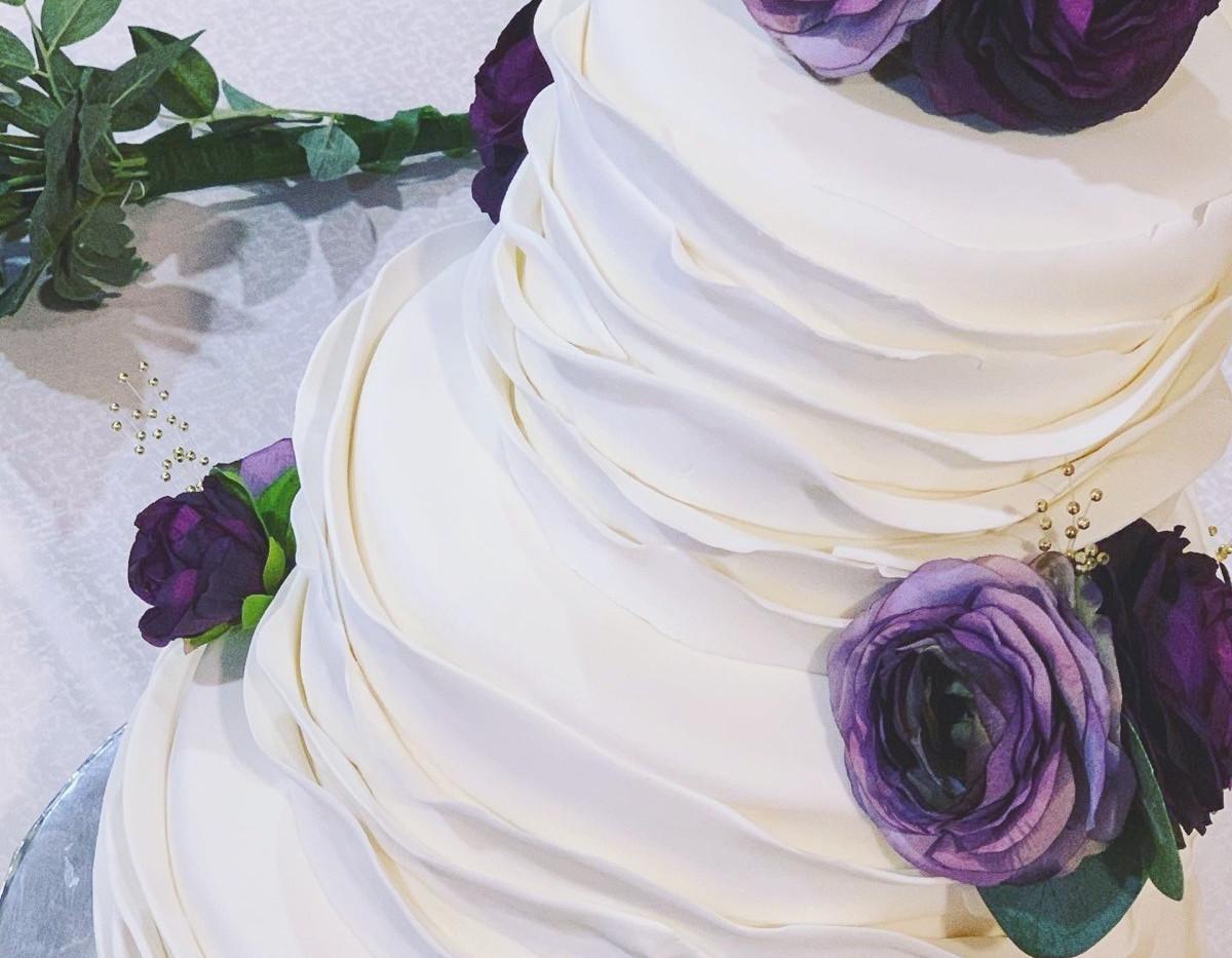 Fondant layered cake