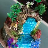 Dinosaur tiered cake