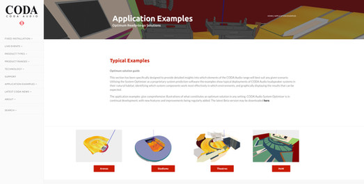 PR - CODA Audio Gives Access To 'Application Examples'