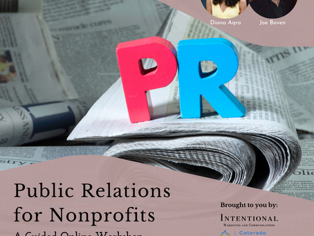 PR for nonprofits: a guided workshop June 15, 2021