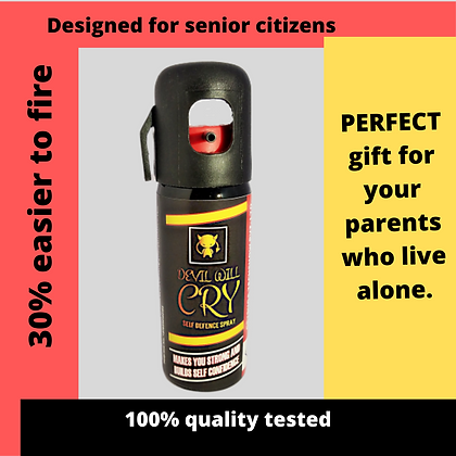 """""""Devil Will Cry"""" Self Defence Spray for senior citizens"""