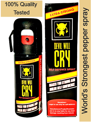 """EXTRA-STRONG  """"Devil Will Cry""""  pepper spray Police & trekking 11%+ tear agent"""