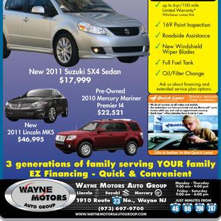 Wayne Motors Full Page Ad