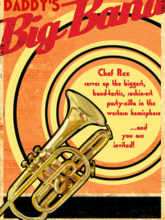 THIS AIN'T YOUR DADDY'S BIG BAND POSTER