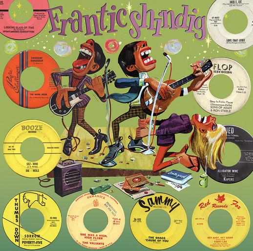FRANTIC SHINDIG LP COVER