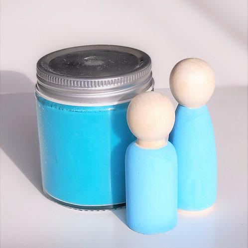 BLUE | Peg dolls & playdough