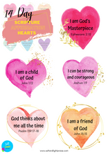 14 Day Scripture Affirmation Hearts