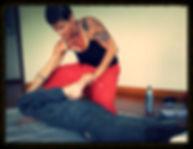 Traditional therapeutic Yoga Thai massage